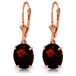 ALARRI 6.25 Carat 14K Solid Rose Gold Garnet Decadence Earrings
