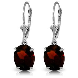 ALARRI 6.25 Carat 14K Solid White Gold Knock On Your Door Garnet Earrings