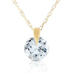 ALARRI 0.65 Carat 14K Solid Gold Unforgettable Aquamarine Necklace