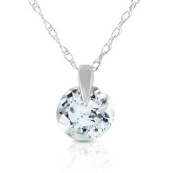ALARRI 0.65 Carat 14K Solid White Gold Best Of Times Aquamarine Necklace