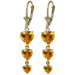 ALARRI 6 CTW 14K Solid Gold Heartthrob Citrine Earrings
