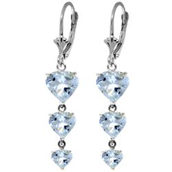 ALARRI 6 Carat 14K Solid White Gold Vanilla Hope Aquamarine Earrings