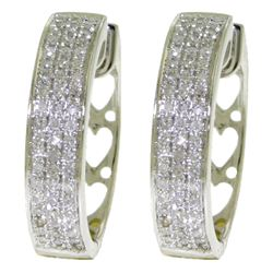 ALARRI 0.45 Carat 14K Solid White Gold Diamond In The Sky Diamond Earrings