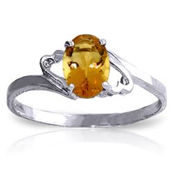 ALARRI 0.9 CTW 14K Solid White Gold My Endless Love Citrine Ring