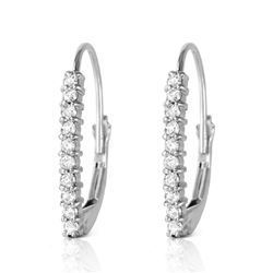 ALARRI 0.3 CTW 14K Solid White Gold Leverback Earrings Natural Diamond