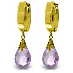 ALARRI 6 Carat 14K Solid Gold Jordana Amethyst Earrings