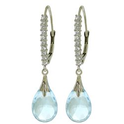 ALARRI 6.3 Carat 14K Solid White Gold St. Tropez Blue Topaz Diamond Earrings