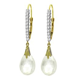 ALARRI 6.3 CTW 14K Solid Gold Cordelia White Topaz Diamond Earrings