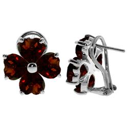 ALARRI 6.5 Carat 14K Solid White Gold Chirping Of Dreams Garnet Earrings
