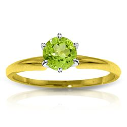 ALARRI 0.65 Carat 14K Solid Gold Solitaire Ring Natural Peridot