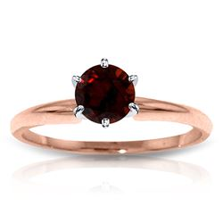 ALARRI 14K Solid Rose Gold Solitaire Ring w/ Natural Garnet