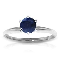 ALARRI 0.65 CTW 14K Solid White Gold Solitaire Ring Natural Sapphire
