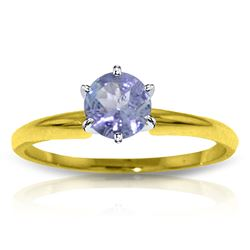 ALARRI 0.65 CTW 14K Solid Gold Solitaire Ring Natural Tanzanite