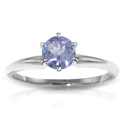 ALARRI 0.65 Carat 14K Solid White Gold Solitaire Ring Natural Tanzanite