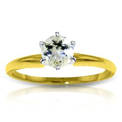 ALARRI 0.65 Carat 14K Solid Gold Solitaire Ring Natural Aquamarine