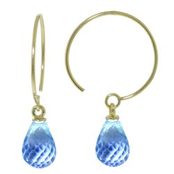 ALARRI 1.35 CTW 14K Solid Gold Lovecircle Blue Topaz Earrings