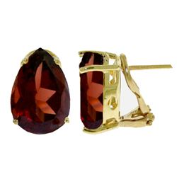 ALARRI 10 Carat 14K Solid Gold Inspiration Garnet Earrings