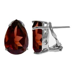 ALARRI 10 Carat 14K Solid White Gold Part Of A Gift Garnet Earrings