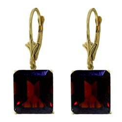 ALARRI 13 Carat 14K Solid Gold Leverback Earrings Garnet