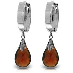 ALARRI 6 CTW 14K Solid White Gold Veiled Love Garnet Earrings