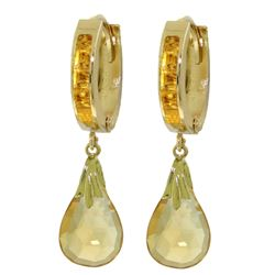 ALARRI 6.85 Carat 14K Solid Gold Changeling Citrine Earrings
