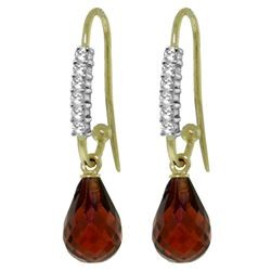 ALARRI 4.68 CTW 14K Solid Gold Impressions Garnet Diamond Earrings
