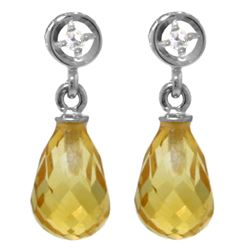 ALARRI 2.73 Carat 14K Solid Gold Breakthrough Citrine Diamond Earrings