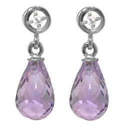 ALARRI 2.73 CTW 14K Solid White Gold Unfathomable Amethyst Diamond Earrings