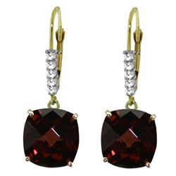 ALARRI 9.15 Carat 14K Solid Gold Perdita Garnet Diamond Earrings