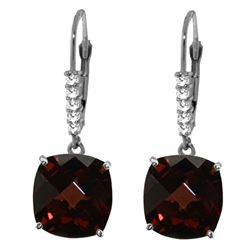 ALARRI 9.15 CTW 14K Solid White Gold Drop The Matter Garnet Diamond Earrings