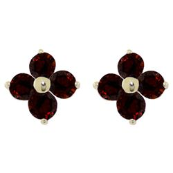 ALARRI 1.15 Carat 14K Solid Gold Elegant Distillation Garnet Earrings