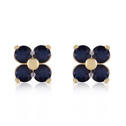 ALARRI 1.15 CTW 14K Solid Gold Last Person I Kiss Sapphire Earrings
