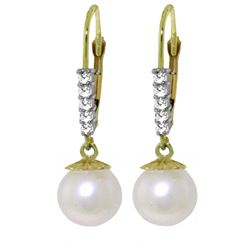 ALARRI 4.15 Carat 14K Solid Gold Leticia Pearl Diamond Earrings