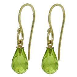 ALARRI 2.7 Carat 14K Solid Gold Fish Hook Earrings Peridot