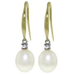 ALARRI 8.1 Carat 14K Solid Gold Joya Pearl Diamond Earrings