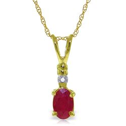 ALARRI 0.46 CTW 14K Solid Gold Earthly Goods Ruby Diamond Necklace