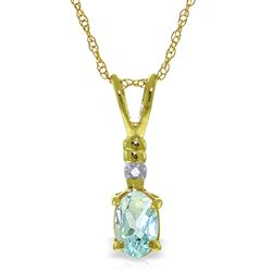 ALARRI 0.46 CTW 14K Solid Gold Prettier Than Ever Aquamarine Necklace