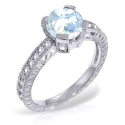 ALARRI 1.8 Carat 14K Solid White Gold Build Tomorrows Aquamarine Diamond Ring