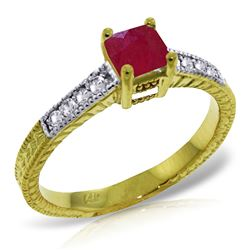 ALARRI 0.65 Carat 14K Solid Gold Chemistry 101 Ruby Diamond Ring