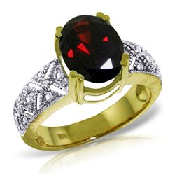 ALARRI 3.2 CTW 14K Solid Gold Our Journey Garnet Diamond Ring