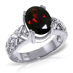 ALARRI 3.2 Carat 14K Solid White Gold Growing Love Garnet Diamond Ring