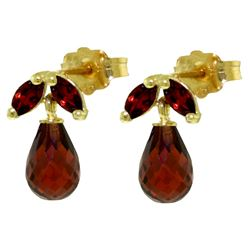 ALARRI 3.4 Carat 14K Solid Gold Love Interpretation Garnet Earrings
