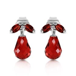 ALARRI 3.4 CTW 14K Solid White Gold High Principles Garnet Earrings