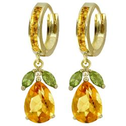 ALARRI 14.3 Carat 14K Solid Gold Ecstacy Citrine Peridot Earrings