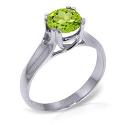 ALARRI 1.1 Carat 14K Solid White Gold Let Your Imagination Peridot Ring