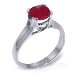 ALARRI 1.35 Carat 14K Solid White Gold Closer Than Close Ruby Ring