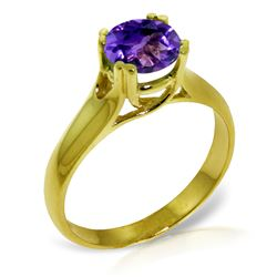 ALARRI 1.1 Carat 14K Solid Gold Better To Be Ready Amethyst Ring