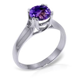 ALARRI 1.1 Carat 14K Solid White Gold Just Fly Amethyst Ring