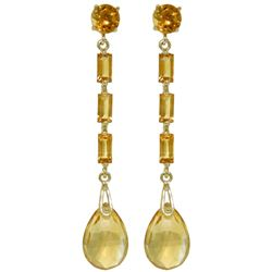 ALARRI 8.6 Carat 14K Solid Gold Boheme Citrine Earrings