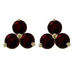 ALARRI 1.5 CTW 14K Solid Gold Where There's Smoke Garnet Earrings